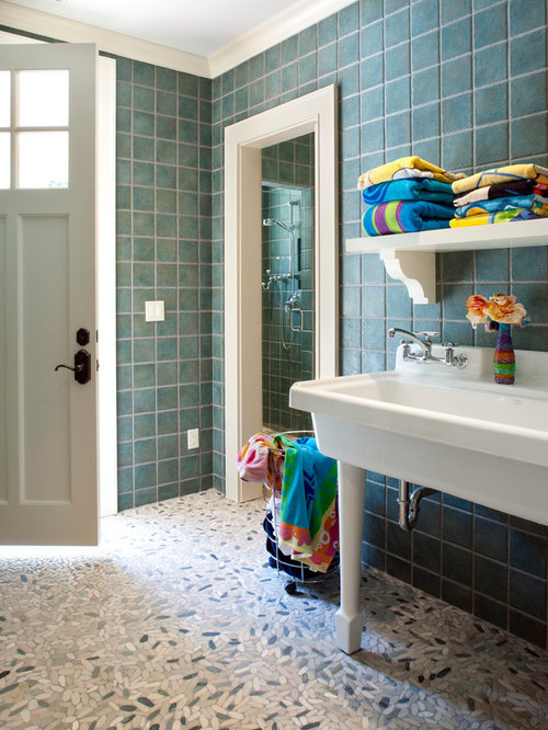 Pool bathroom houzz for Cabana bathroom ideas