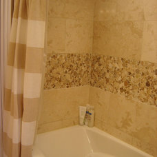 Transitional Bathroom by PH'Designs