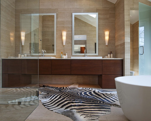 Contemporary Bath Rugs Houzz - His and hers bathroom rugs for bathroom decor ideas