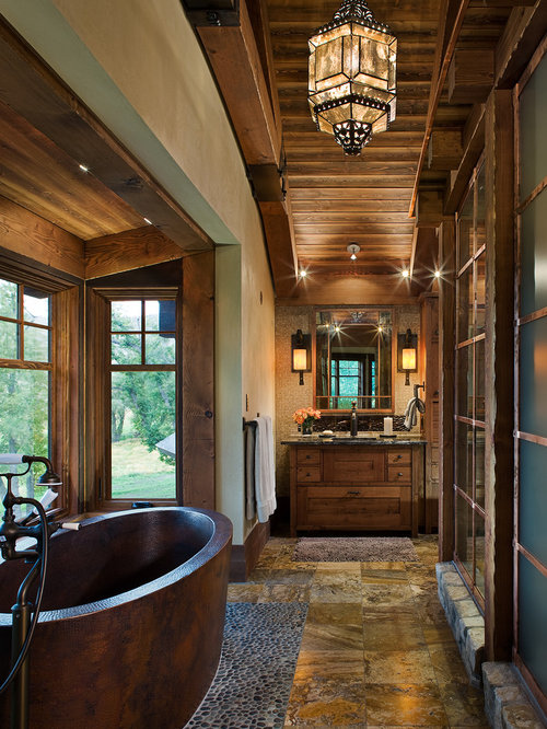 Rustic Master Bathroom Ideas: Rustic Ensuite Bathroom Design Ideas, Renovations & Photos