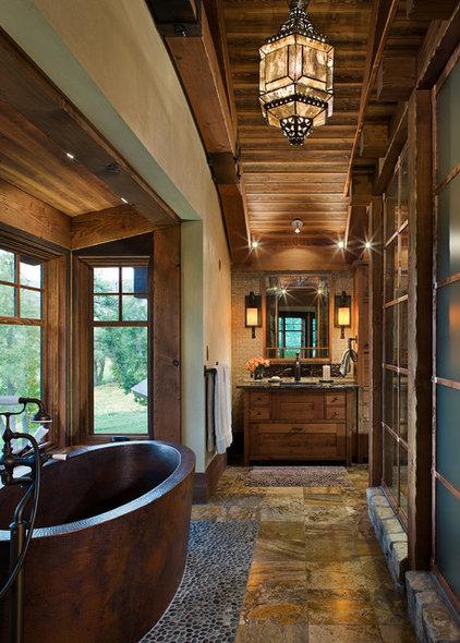 Rustic Bathroom by Mitchell Brock