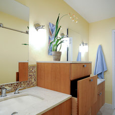 Transitional Bathroom by CairnsCraft Remodeling