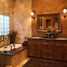 Rustic Bathroom by Lori Tiedeman Interiors