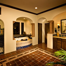 Mediterranean Bathroom by Casas del Oso Luxury Homes