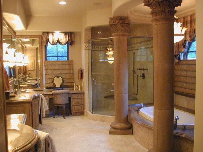 Mediterranean Bathroom by Lance DeGeorge, Assoc. AIA
