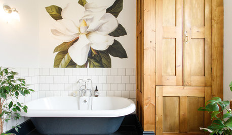 Room Tour: A Monochrome Bathroom With Warm, Natural Touches