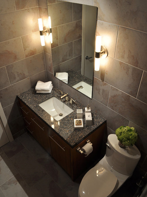 Inspiration for a contemporary bathroom remodel in Vancouver with an ...