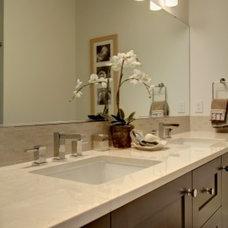 Traditional Bathroom by Abodian Inc