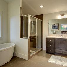 Craftsman Bathroom by Isola Homes