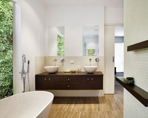 natural bathroom design houzz. Black Bedroom Furniture Sets. Home Design Ideas
