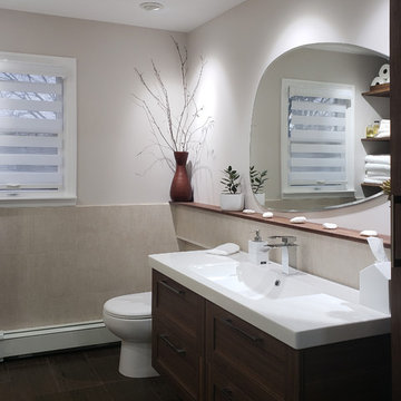 Readington residency  - transitional bathroom