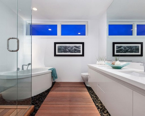 Rock Your Reno With These 11 Bathroom Mirror Ideas: River Rock Bathroom Home Design Ideas, Pictures, Remodel