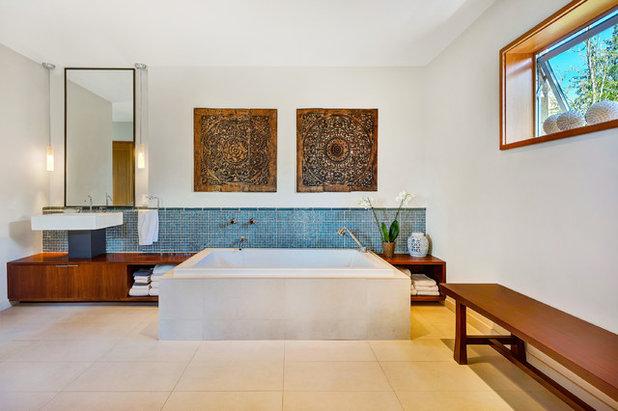 Asian Bathroom by Sheila Say