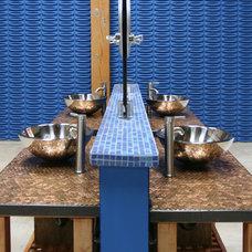 Industrial Bathroom by Jen Chu Design