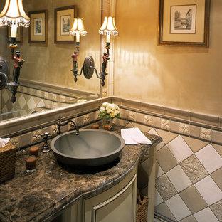 Bathroom - traditional bathroom idea in Los Angeles with a vessel sink