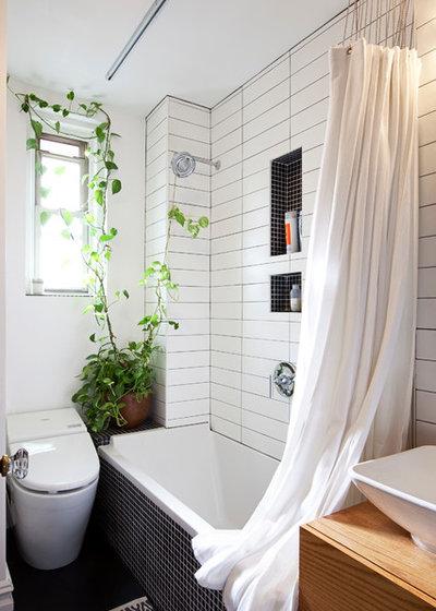 Indretning: nyt liv til badeværelset med dekorative bruseforhæng