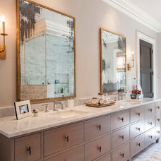 Transitional Bathroom by Shannon Connor