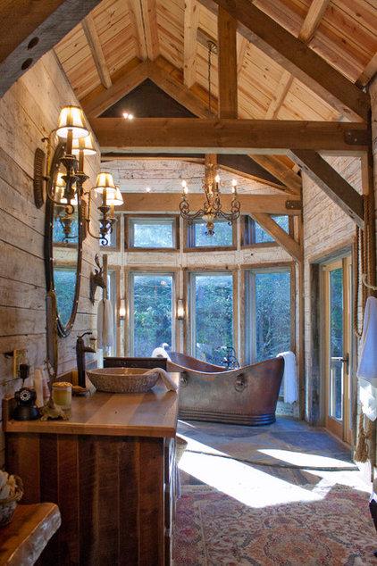 Rustic Bathroom by Appalachian Antique Hardwoods