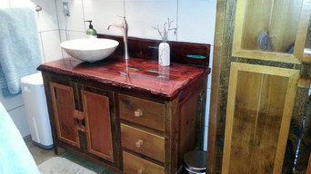 Reclaimed Barn Wood Bathroom Vanities