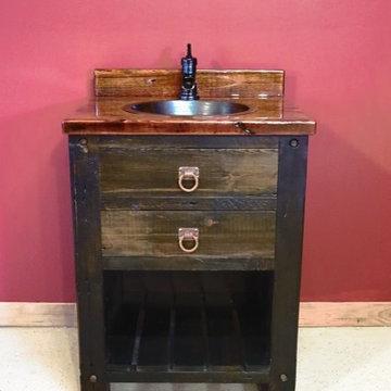 Reclaimed Barn Wood Bathroom