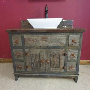 Reclaimed Gray Barn Wood Bathroom Vanity