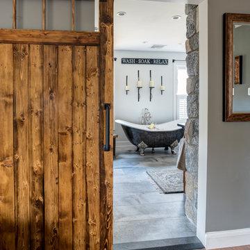Reclaimed Rustic Master Bath Suite