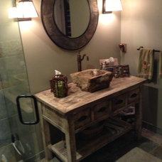 Farmhouse Bathroom by Woodland Creek Furniture