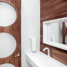Modern Bathroom by rectangle design inc