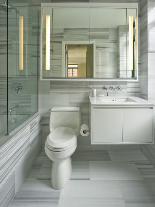 Cabinet Over Toilet With Mirror | Houzz