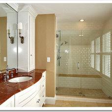 Traditional Bathroom by Red Barn Studio