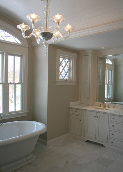 American Traditional Bathroom by Red Barn Studio