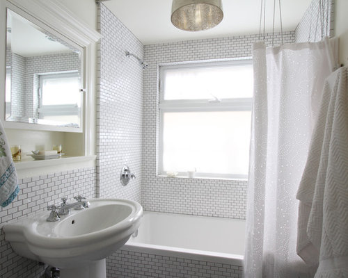 Small Subway Tile Fair Small Subway Tile  Houzz Decorating Design