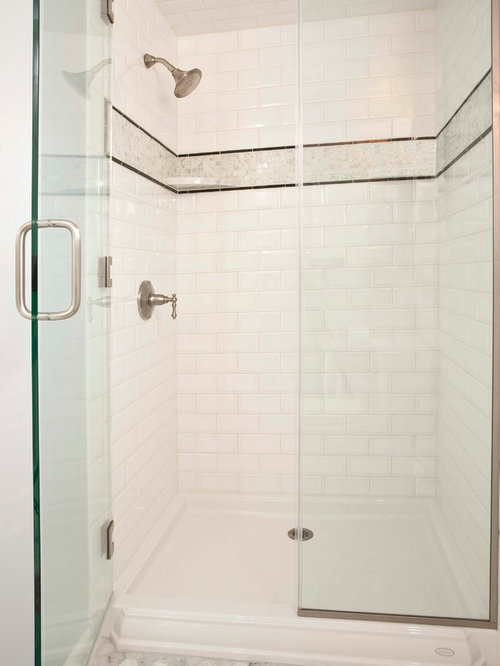 inspiration for a small timeless bathroom remodel in seattle with an undermount sink raised - Kohler Shower Base