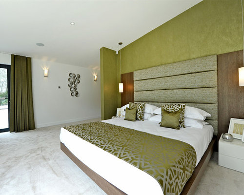 Green bedroom houzz Master bedroom ideas houzz