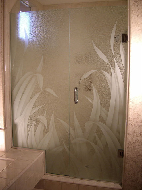Etched Shower Doors Ideas, Pictures, Remodel and Decor