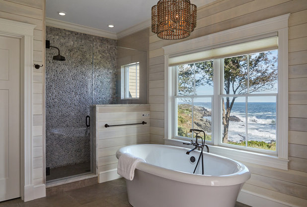 Beach Style Bathroom by Kevin Browne Architecture