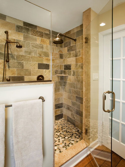 Rustic master bath houzz for Rustic master bathroom designs