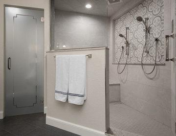 Refined Rustic Master Bathroom