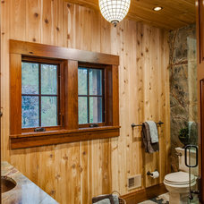 Rustic Bathroom by Designs by Dawn at the Lake Street Design Studio