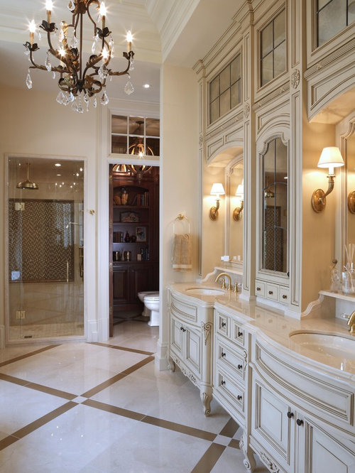 Bathroom Vanity Design Ideas bathroom decor ideas double sink floating vanity design ideas storage drawers Inspiration For A Victorian Bathroom Remodel In Burlington With Furniture Like Cabinets And An Alcove