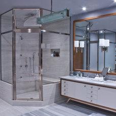 Modern Bathroom by GlassCrafters Inc