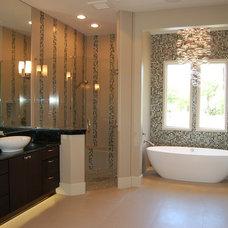 Contemporary Bathroom by Dixon Kazek Morrison Custom Homes