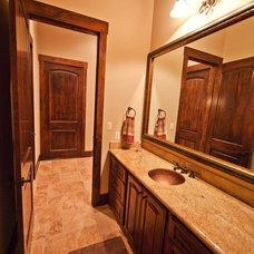 Mediterranean Bathroom by JMC Designs llc