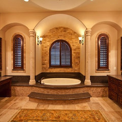 mediterranean bathroom by JMC Designs llc