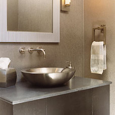 Eclectic Bathroom by Leslie Fine Interiors