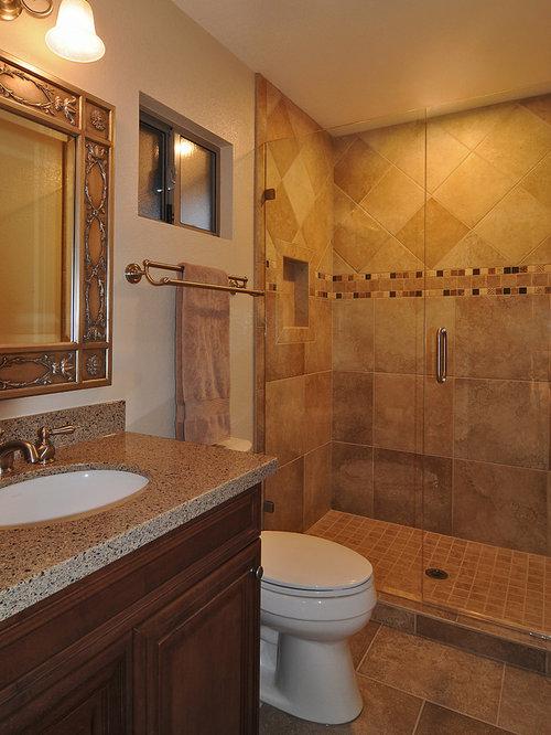 Medium sized cooking bathroom design ideas renovations for Mid size bathroom ideas