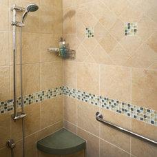 Traditional Bathroom by Nancy B. Bither, CMKBD