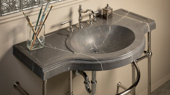Renaissance Console Sink, Marquina Taupe Marble