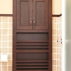Contemporary Bathroom by Makatura Construction, Inc.