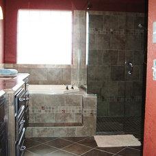 Contemporary Bathroom by RenovateKate